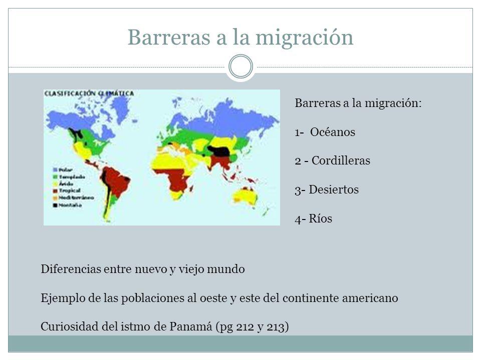 Barreras a la migración