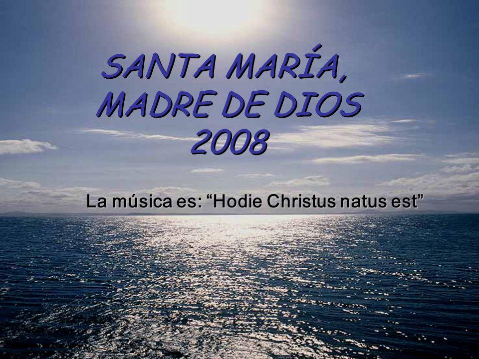 SANTA MARÍA, MADRE DE DIOS 2008