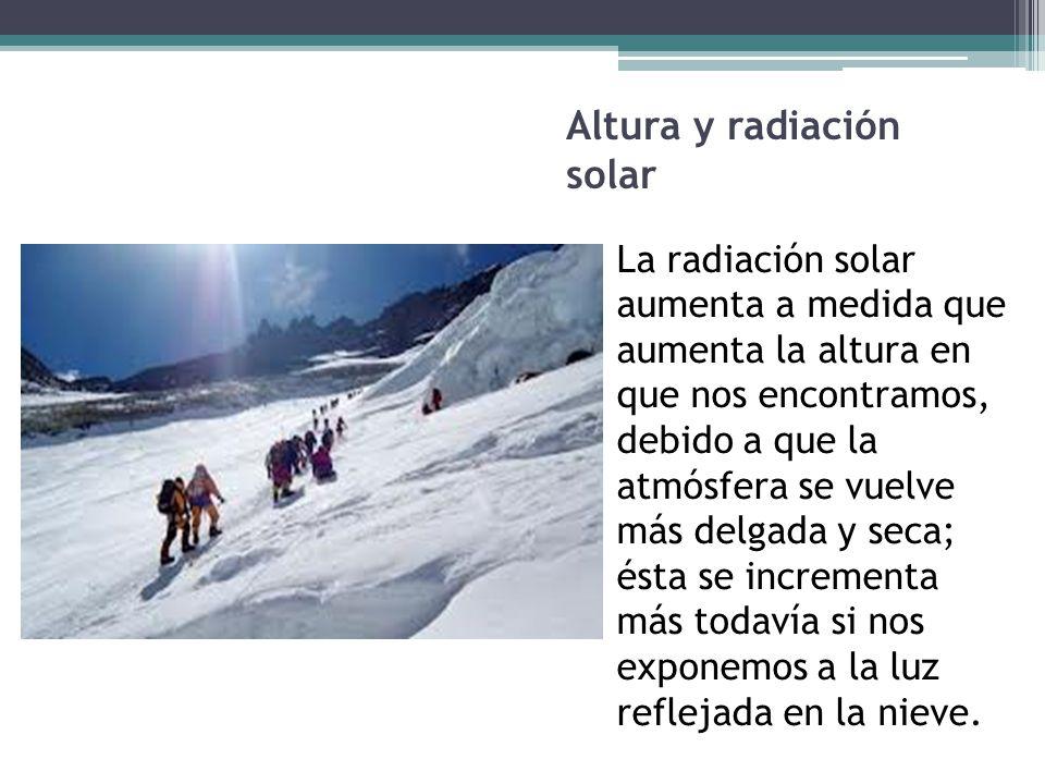 Altura y radiación solar