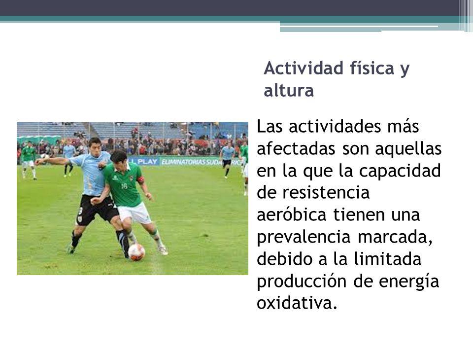Actividad física y altura