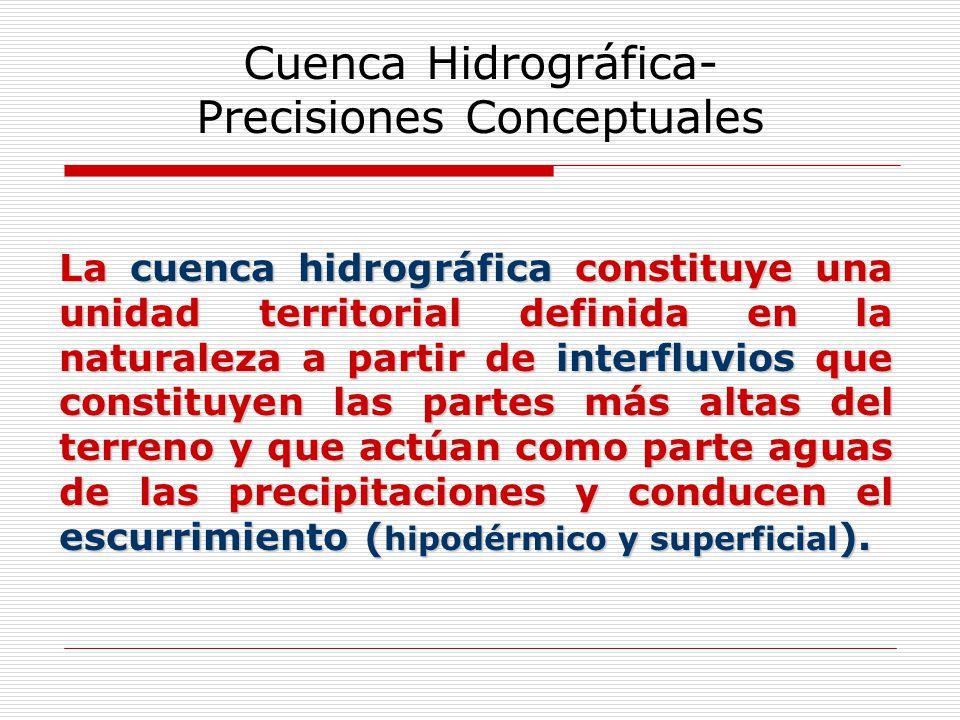 Cuenca Hidrográfica- Precisiones Conceptuales