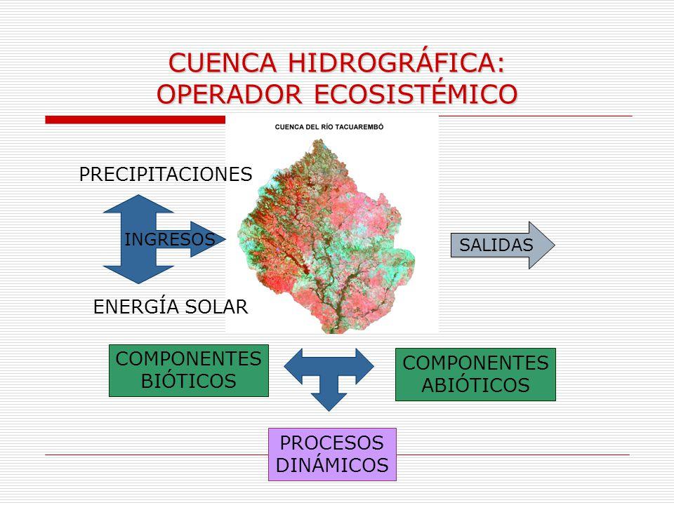 CUENCA HIDROGRÁFICA: OPERADOR ECOSISTÉMICO