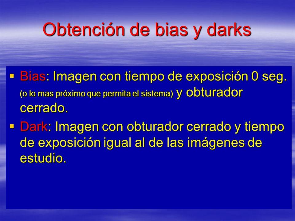 Obtención de bias y darks