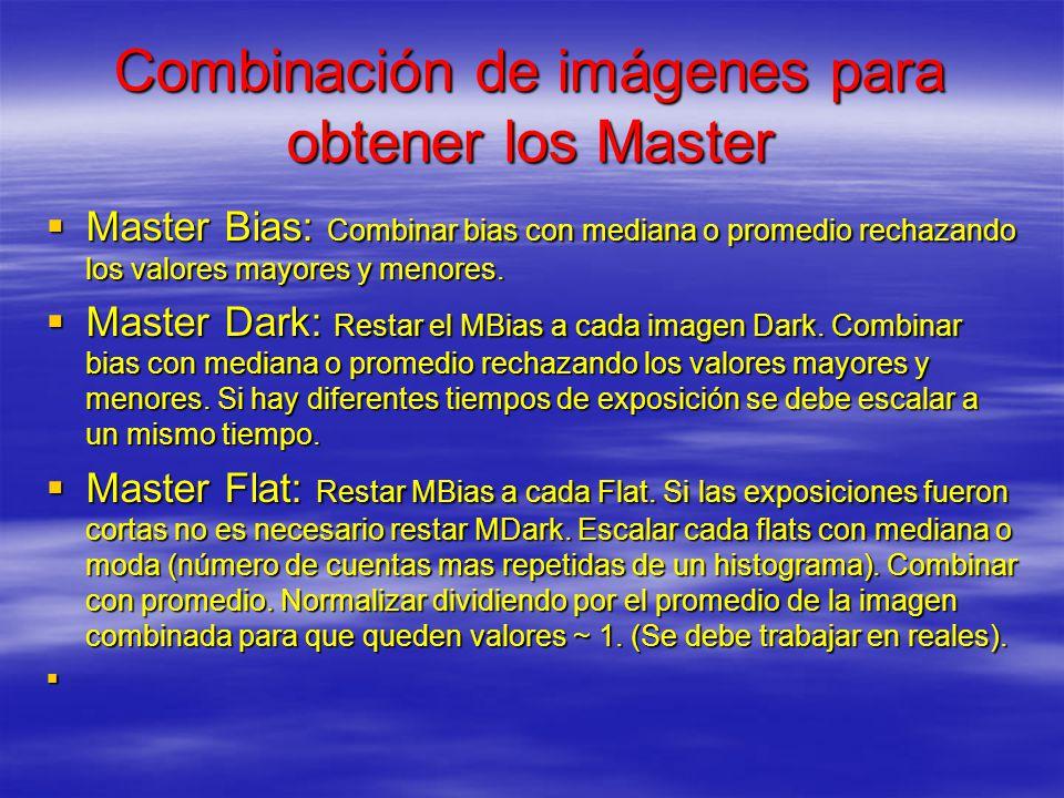 Combinación de imágenes para obtener los Master
