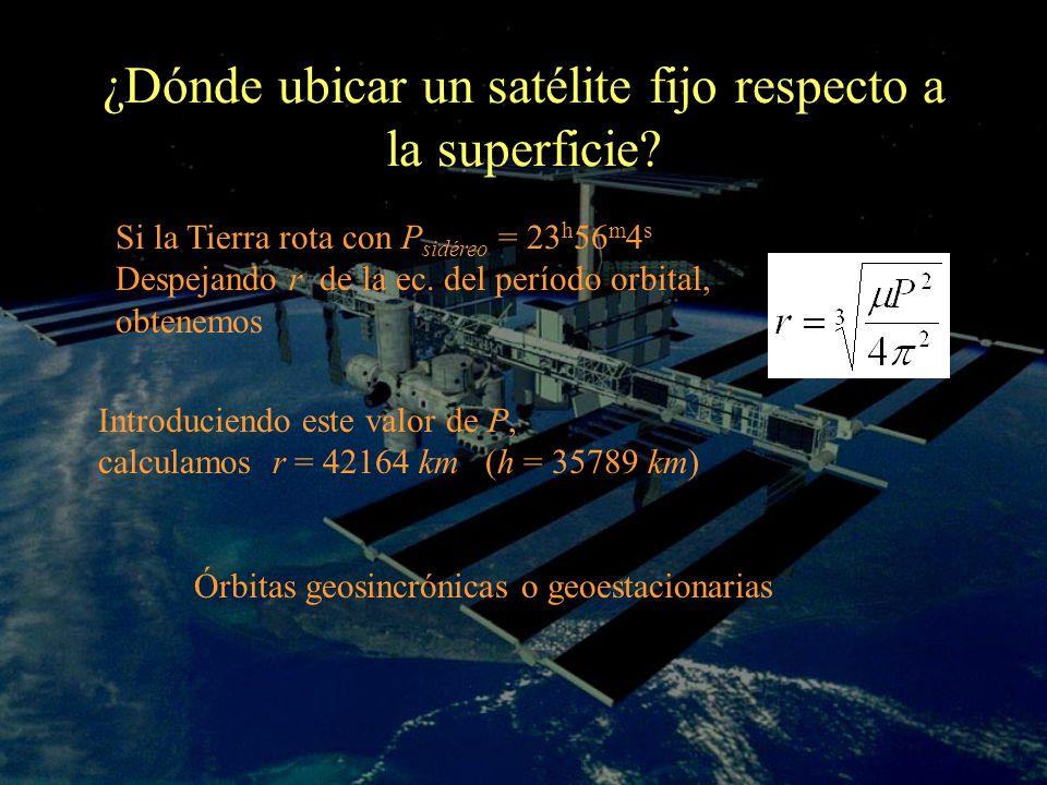 ¿Dónde ubicar un satélite fijo respecto a la superficie