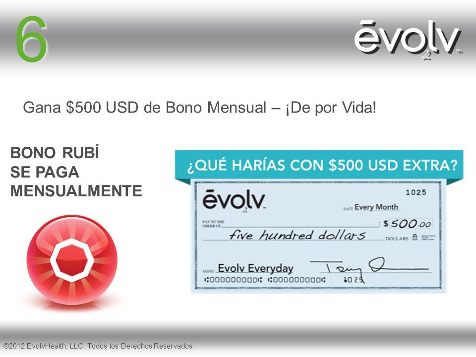 6 Gana $500 USD de Bono Mensual – ¡De por Vida!