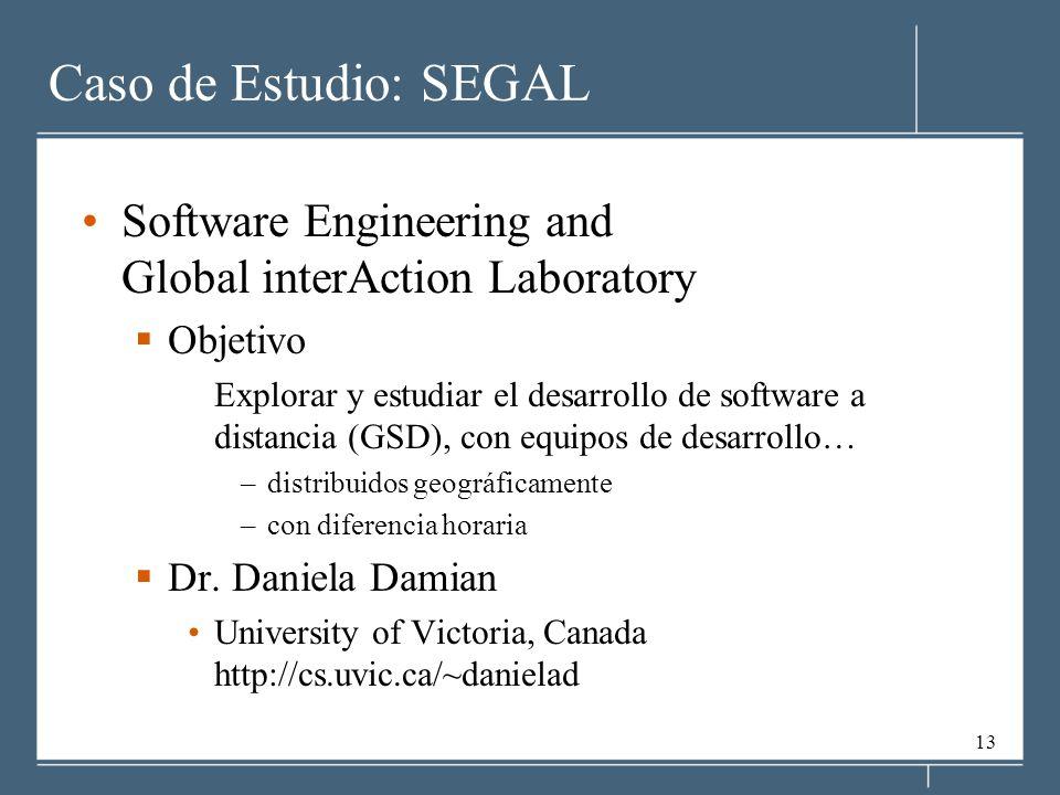 Caso de Estudio: SEGAL Software Engineering and Global interAction Laboratory. Objetivo.
