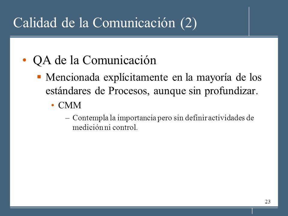 Calidad de la Comunicación (2)