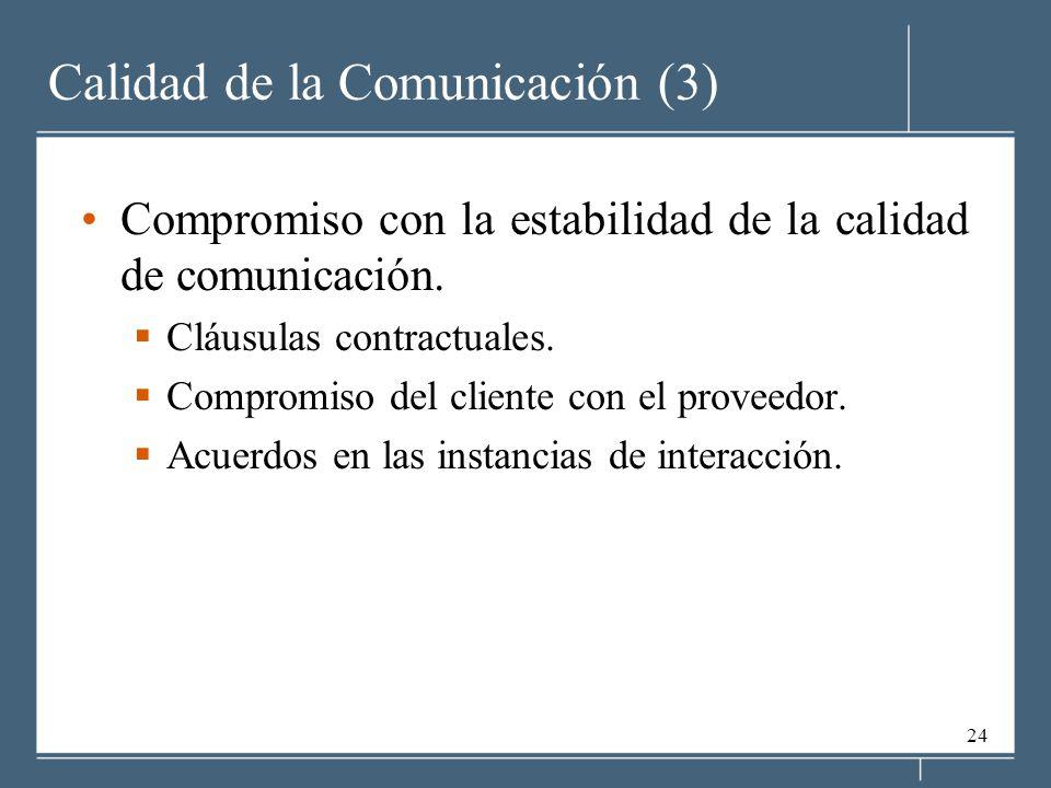 Calidad de la Comunicación (3)
