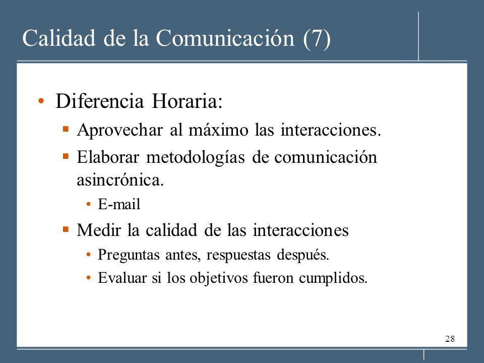 Calidad de la Comunicación (7)