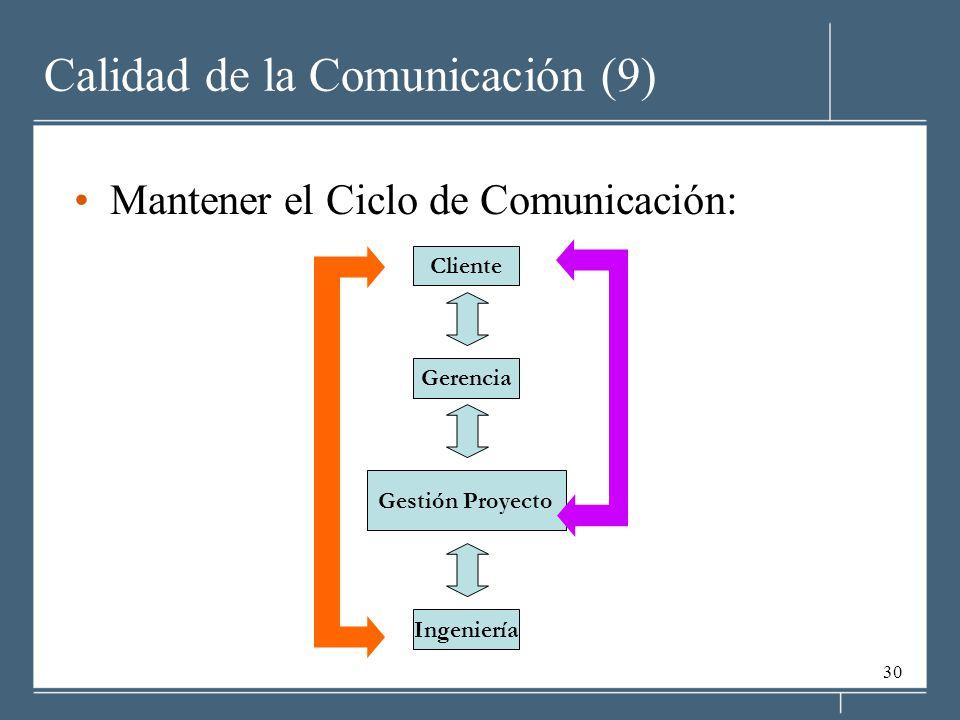 Calidad de la Comunicación (9)