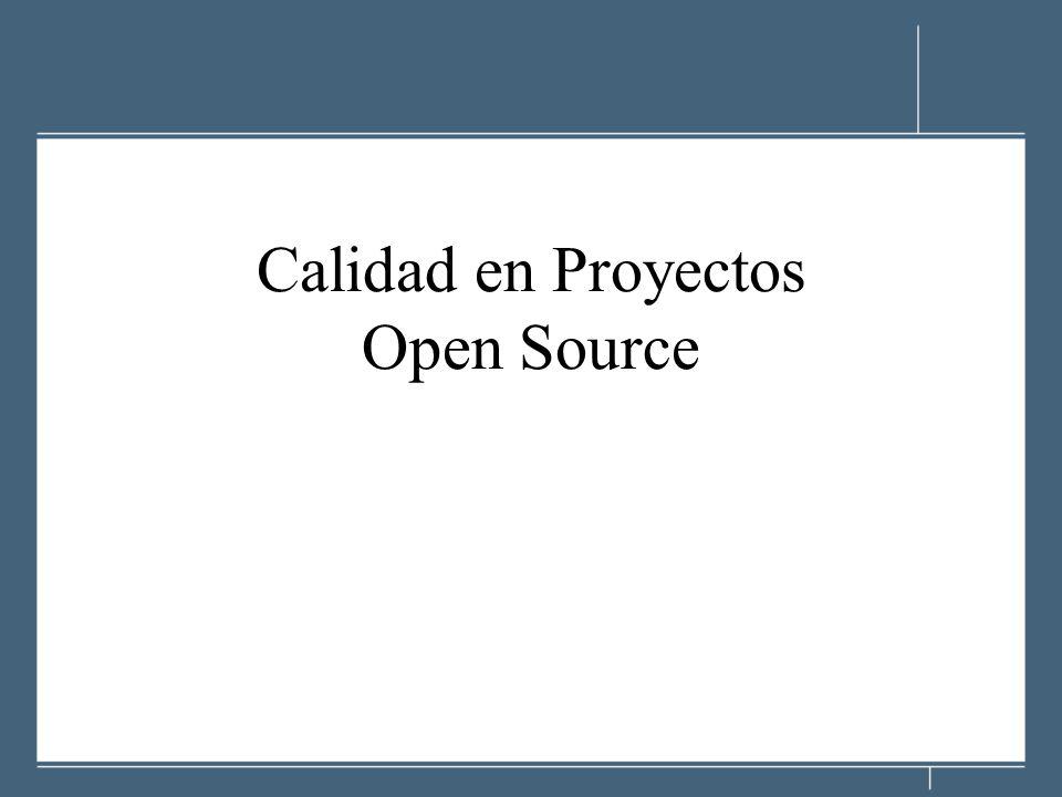 Calidad en Proyectos Open Source