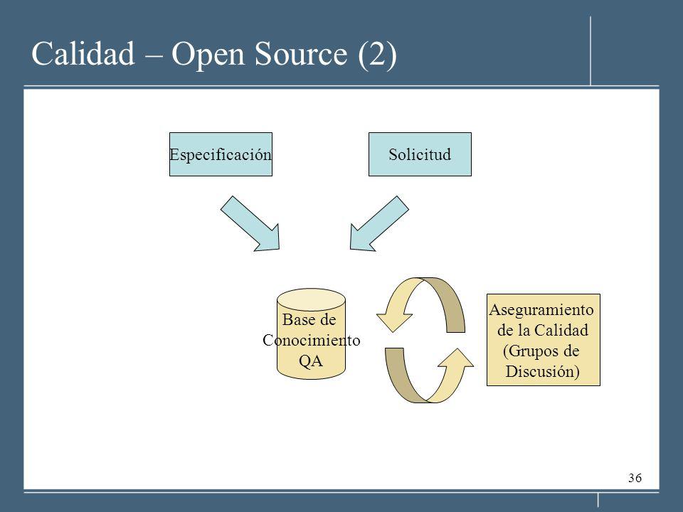 Calidad – Open Source (2)