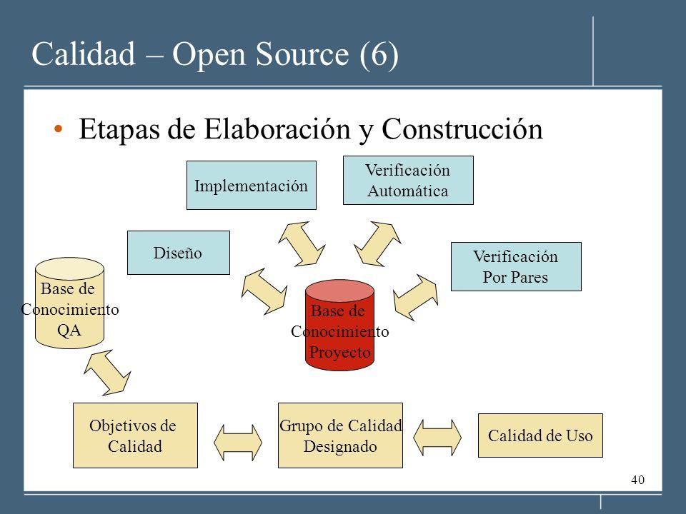 Calidad – Open Source (6)