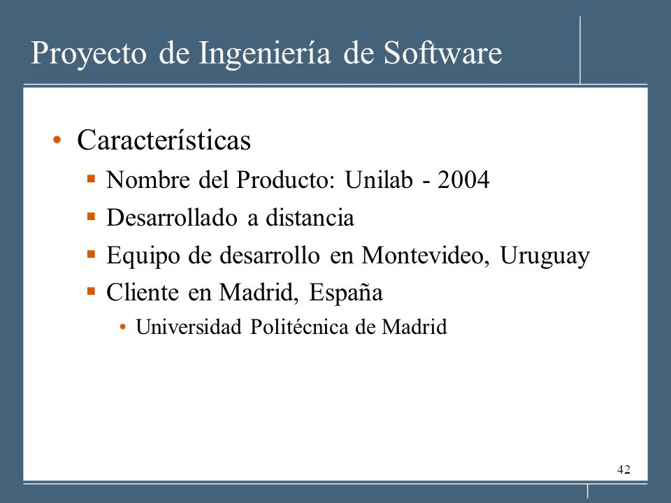 Proyecto de Ingeniería de Software