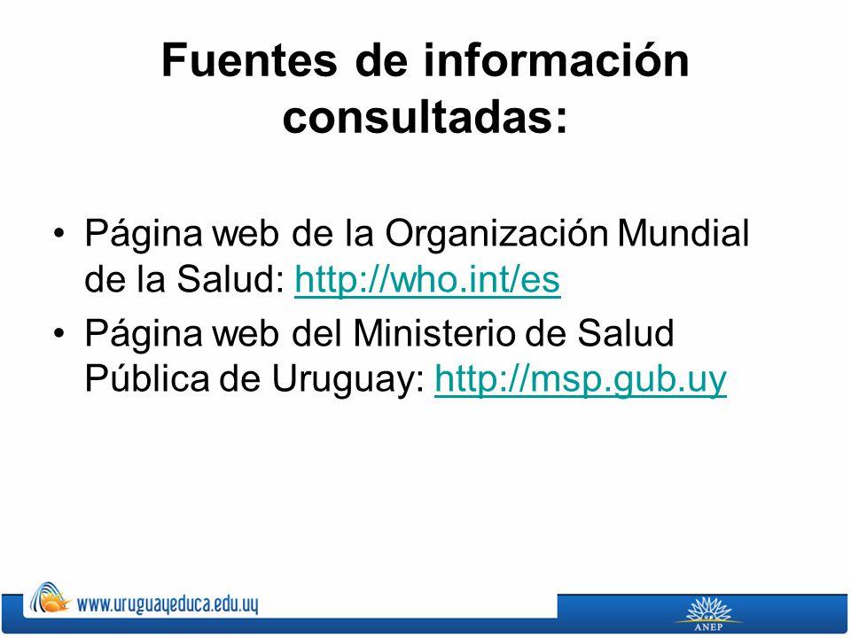 Fuentes de información consultadas: