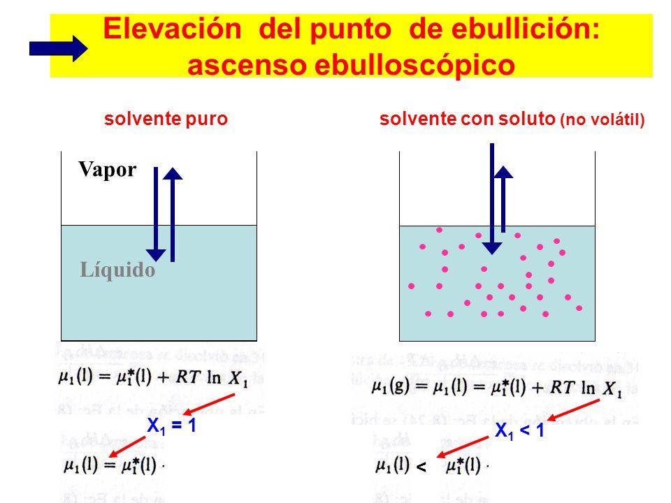 Elevación del punto de ebullición: ascenso ebulloscópico