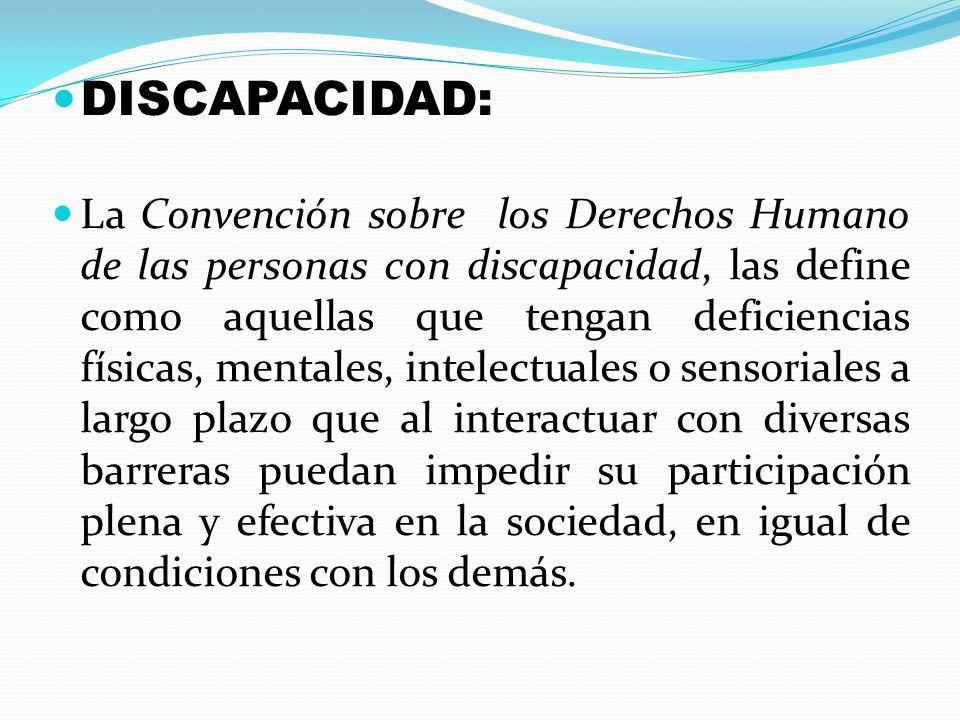 DISCAPACIDAD: