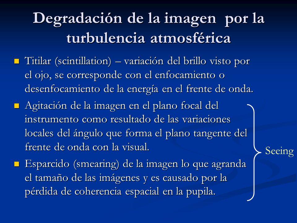 Degradación de la imagen por la turbulencia atmosférica