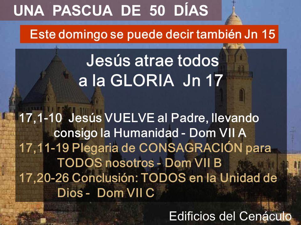 Jesús atrae todos a la GLORIA Jn 17