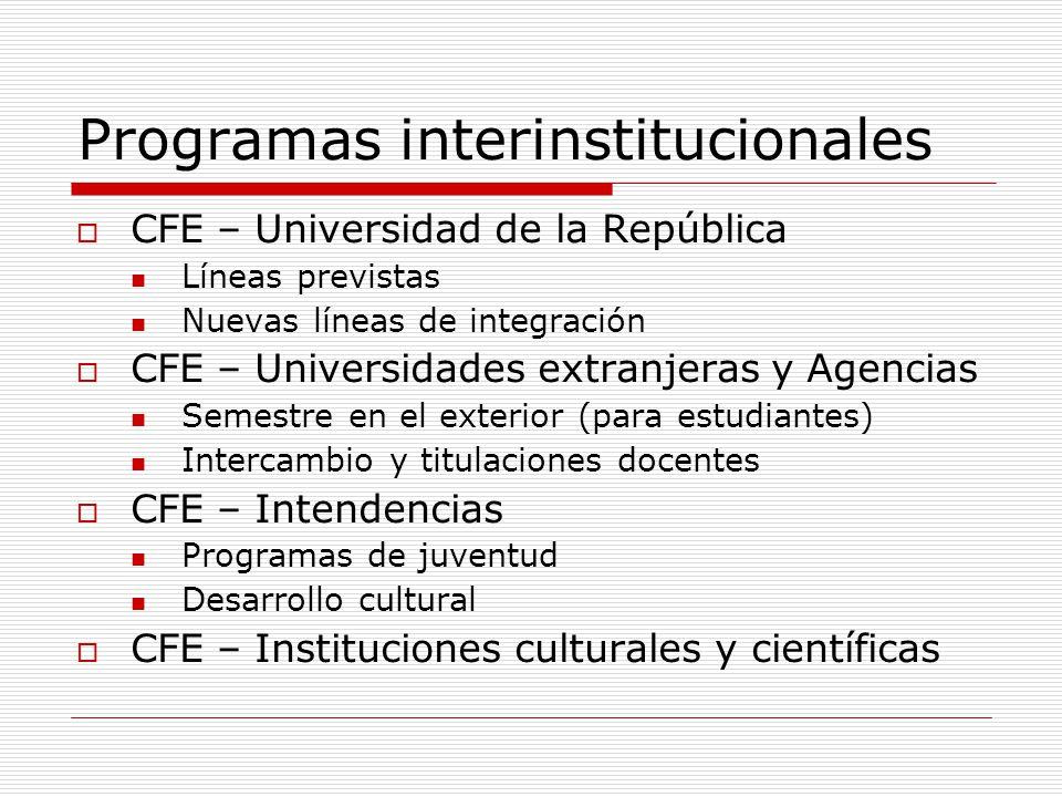 Programas interinstitucionales