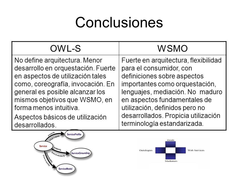 Conclusiones OWL-S WSMO