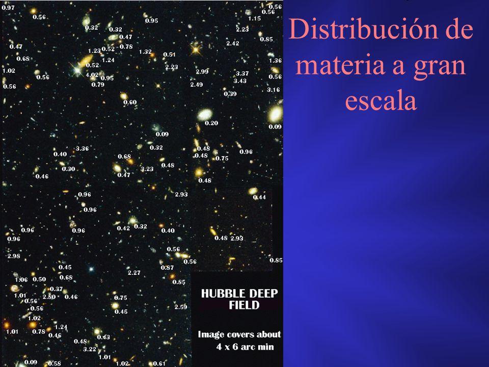 Distribución de materia a gran escala
