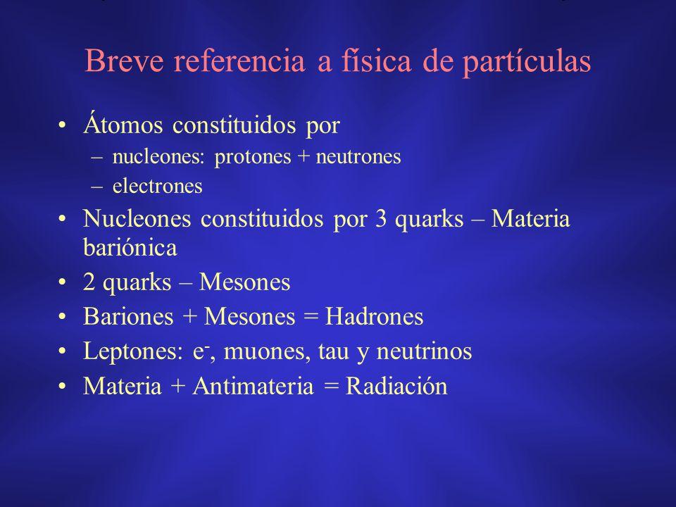 Breve referencia a física de partículas