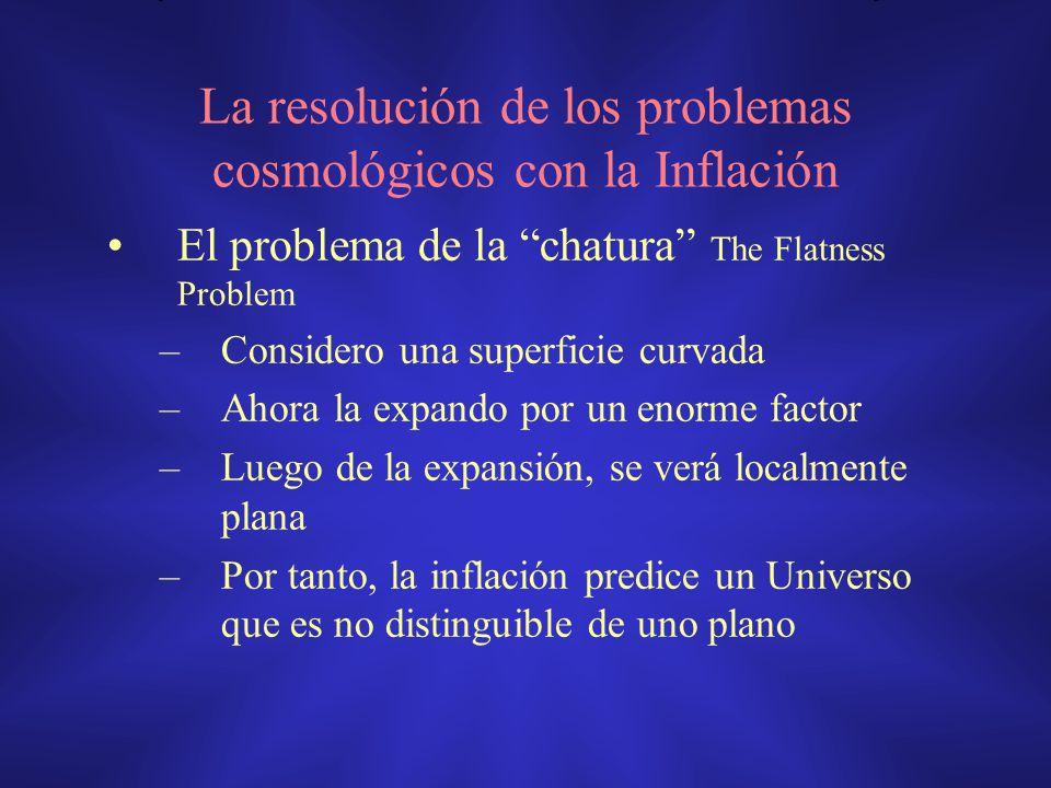 La resolución de los problemas cosmológicos con la Inflación