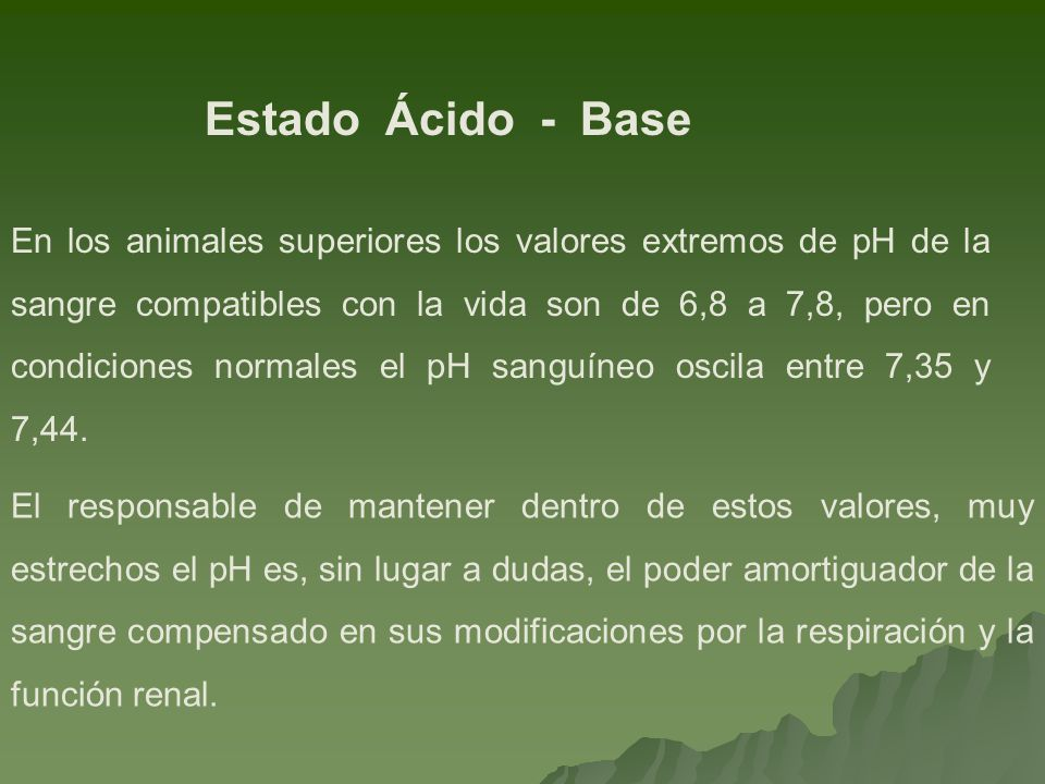 Estado Ácido - Base