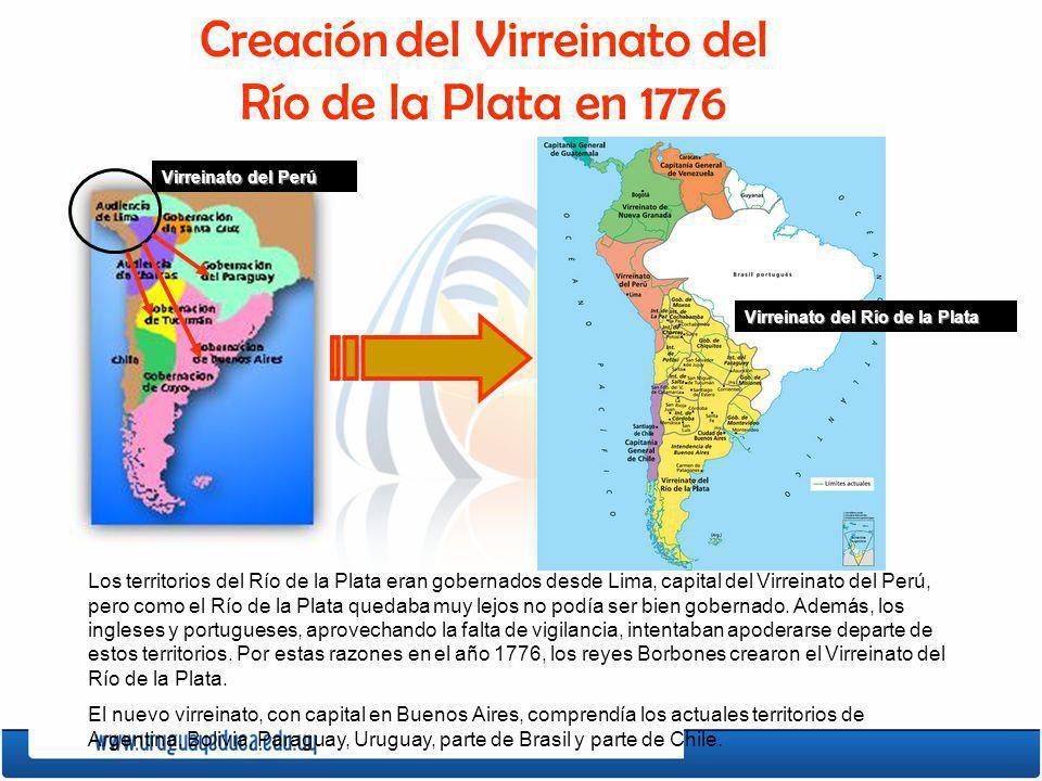 Creación del Virreinato del Río de la Plata en 1776