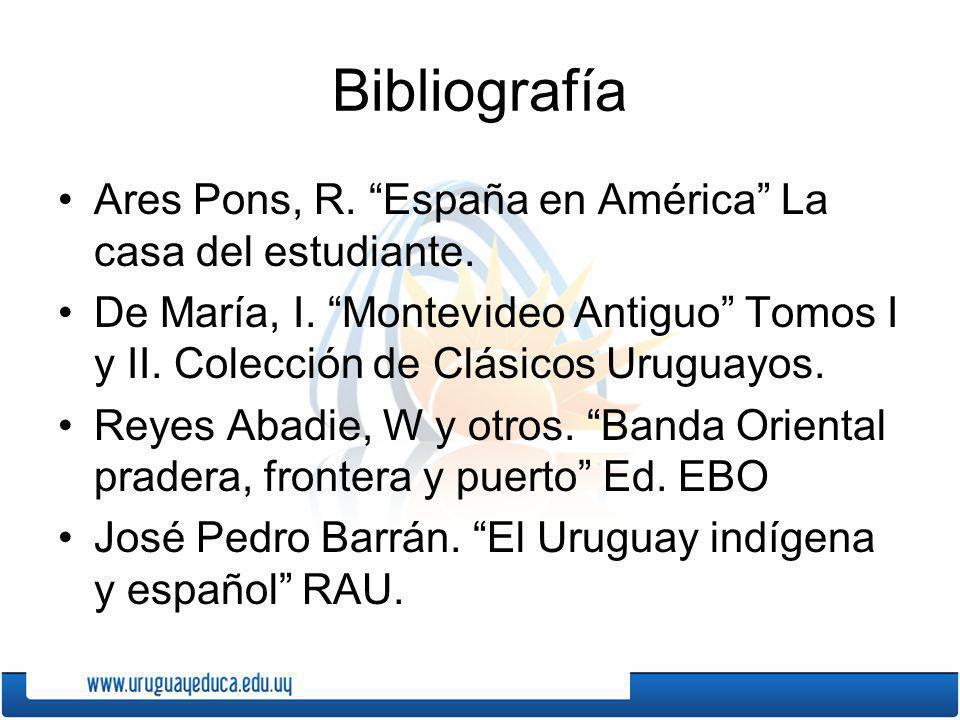 Bibliografía Ares Pons, R. España en América La casa del estudiante.