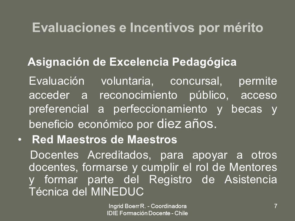 Evaluaciones e Incentivos por mérito