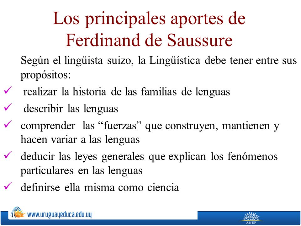 Los principales aportes de Ferdinand de Saussure