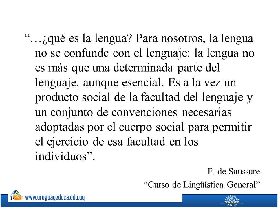 …¿qué es la lengua Para nosotros, la lengua no se confunde con el lenguaje: la lengua no es más que una determinada parte del lenguaje, aunque esencial. Es a la vez un producto social de la facultad del lenguaje y un conjunto de convenciones necesarias adoptadas por el cuerpo social para permitir el ejercicio de esa facultad en los individuos .