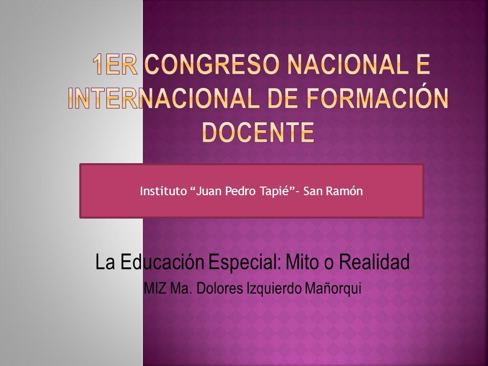1er Congreso Nacional e Internacional de Formación Docente