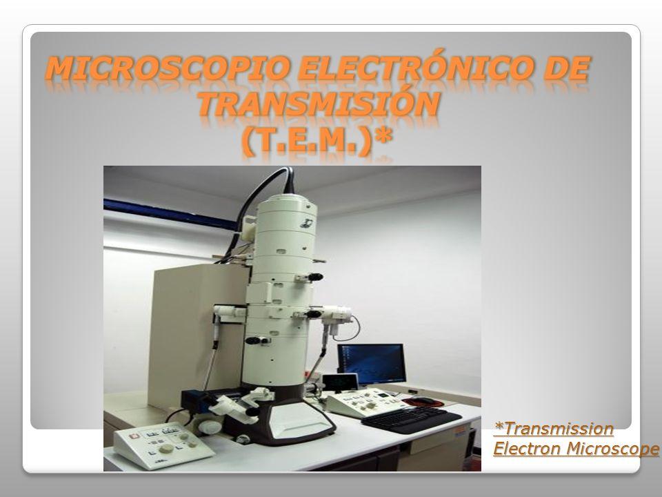 MICROSCOPIO ELECTRÓNICO DE TRANSMISIÓN (T.E.M.)*