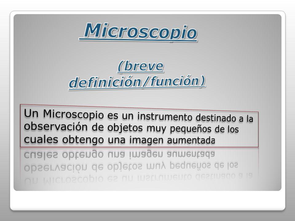 Microscopio (breve definición/función)