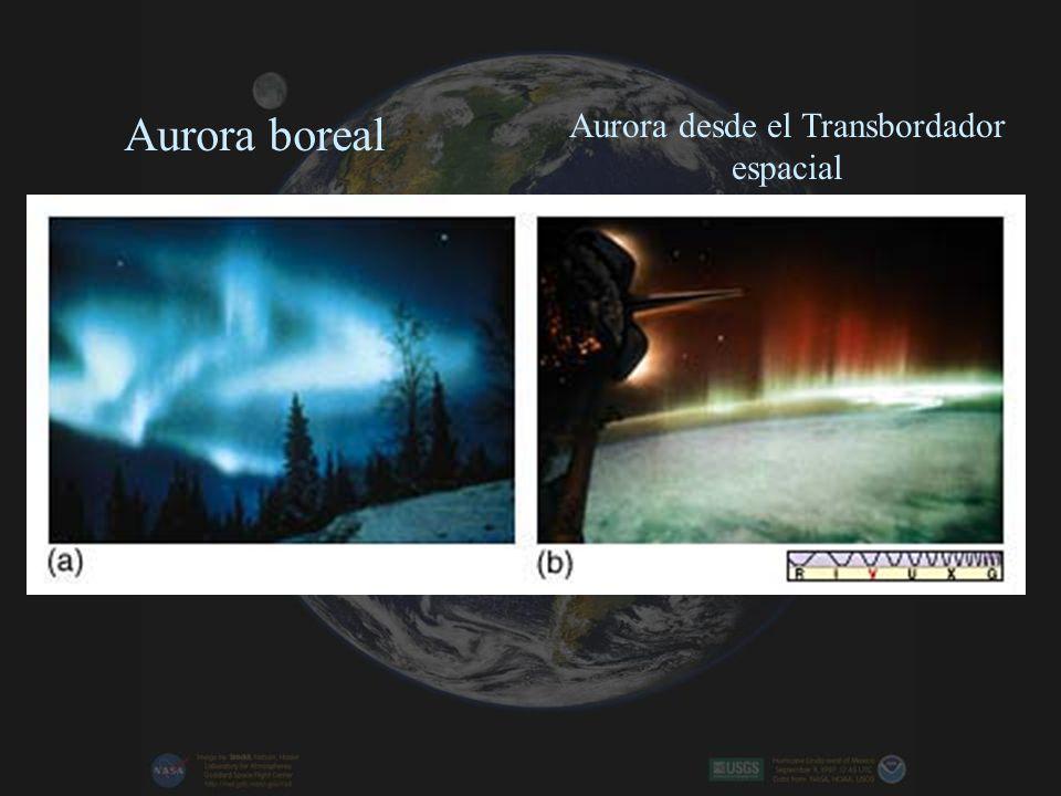 Aurora desde el Transbordador espacial