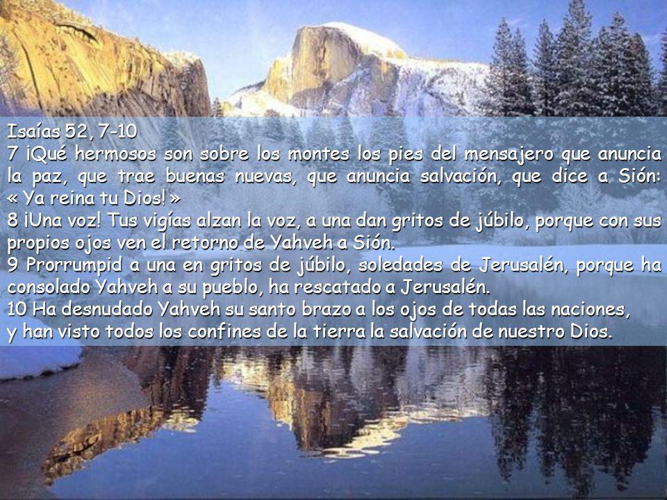Isaías 52, 7-10
