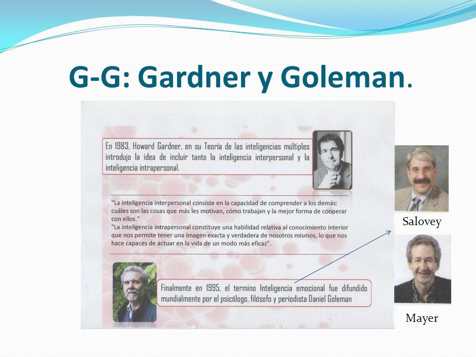 G-G: Gardner y Goleman. Salovey Mayer