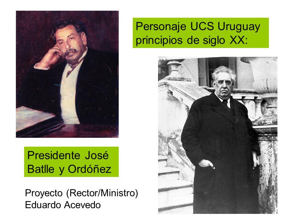 Personaje UCS Uruguay principios de siglo XX: