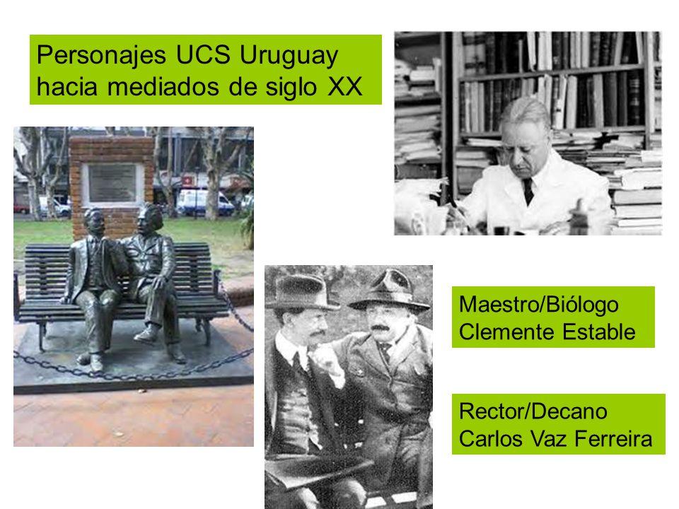 Personajes UCS Uruguay hacia mediados de siglo XX