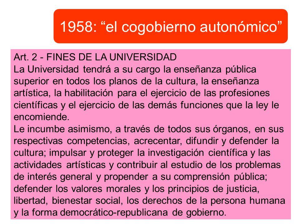 1958: el cogobierno autonómico
