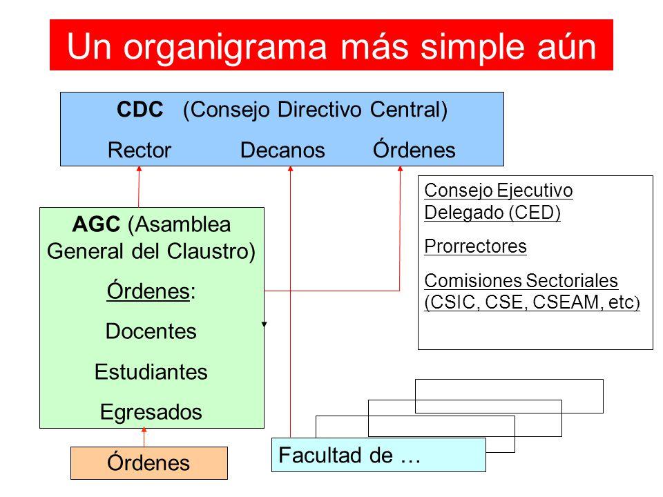 Un organigrama más simple aún