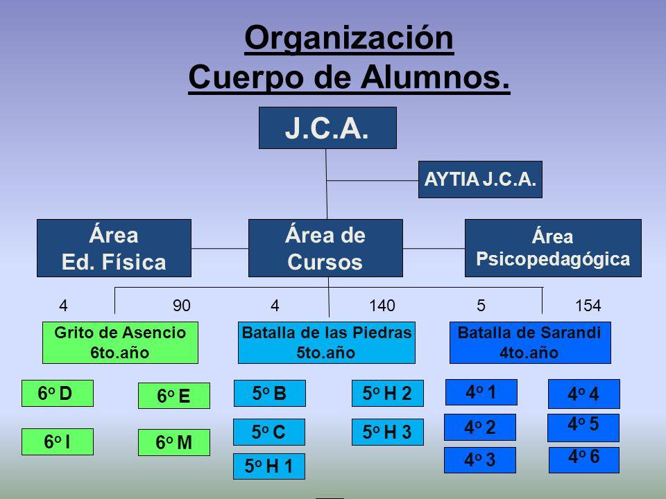 Organización Cuerpo de Alumnos.