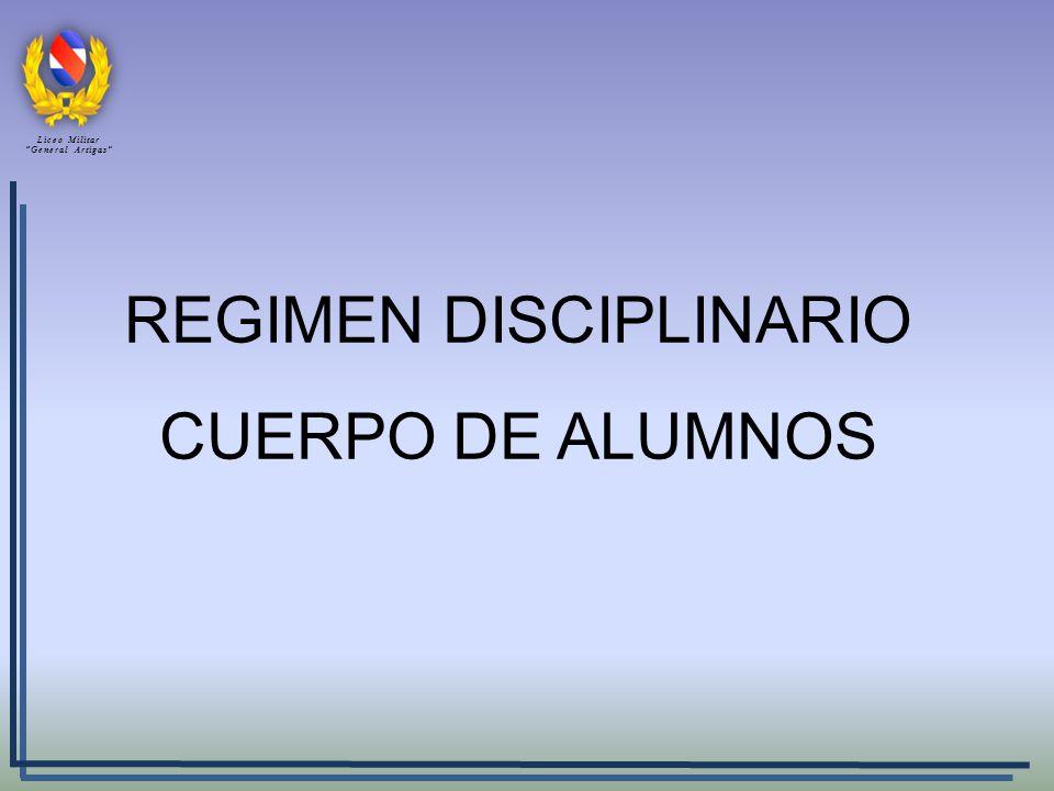 REGIMEN DISCIPLINARIO CUERPO DE ALUMNOS