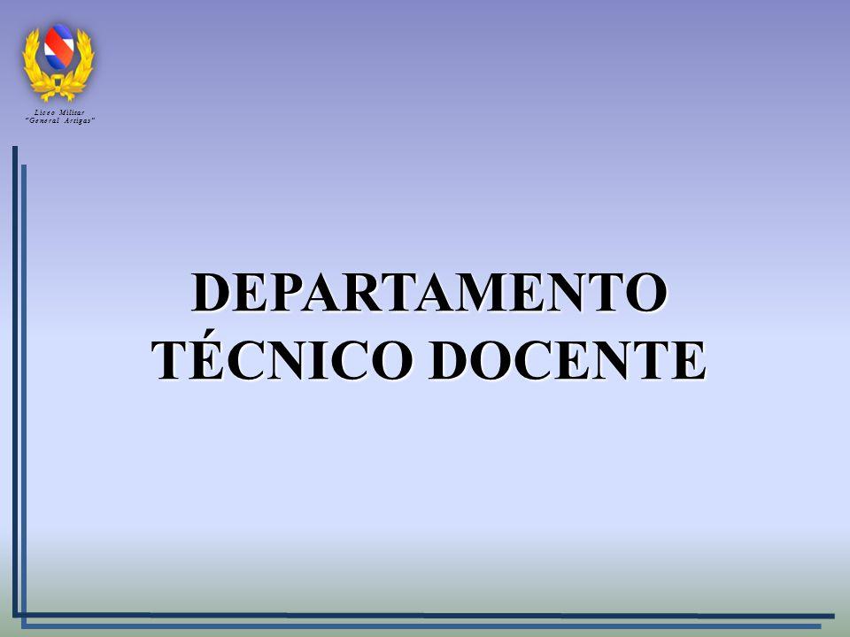 DEPARTAMENTO TÉCNICO DOCENTE