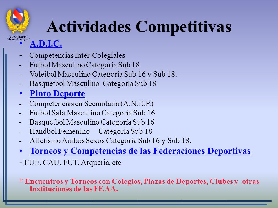 Actividades Competitivas