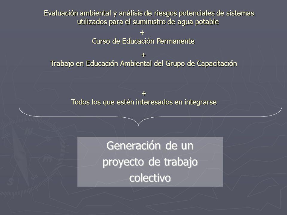 Generación de un proyecto de trabajo colectivo